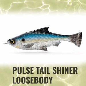 Savage Gear Loose Body Pulse Tail Shiner Lure 5in
