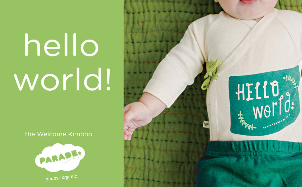 Parade Organics Hello World Onesie