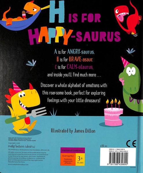 h is for happy-saurus book