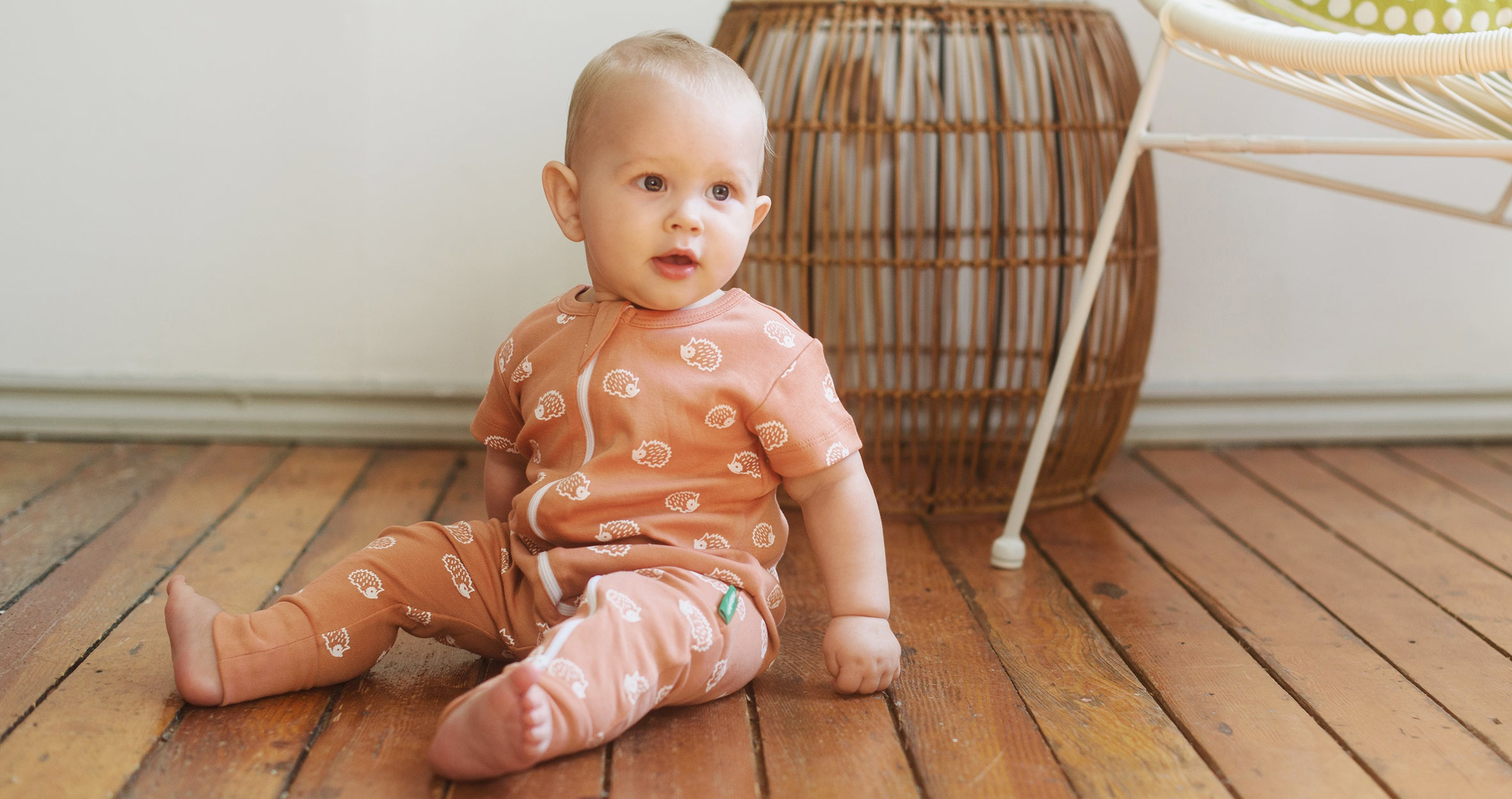 Organic cotton 2-way Zipper rompers