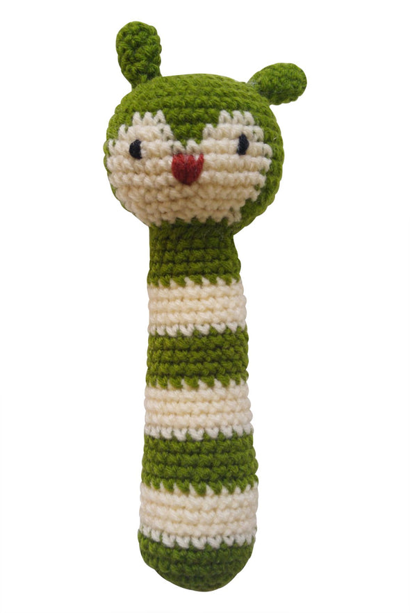"""My Animal Friends"" Knit Rattle - Parade Organics"