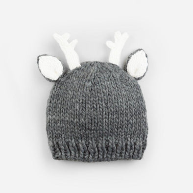 Hartley Deer Gray Knit Hat