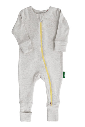 Snuggle Soft Melange '2-Way' Zipper Romper