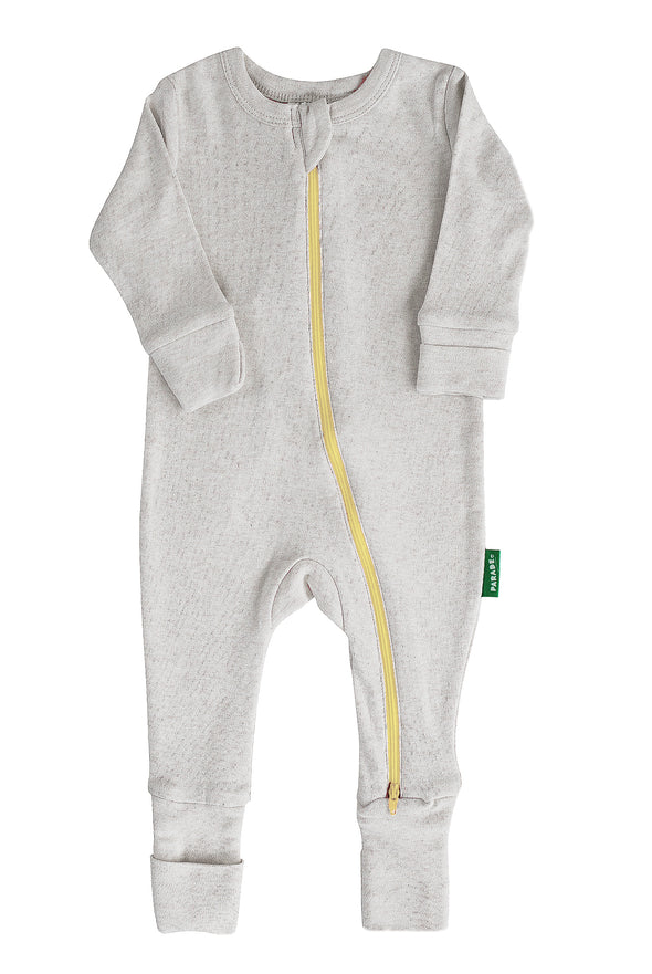 Snuggle Soft Melange '2-Way' Zipper Romper - Parade Organics