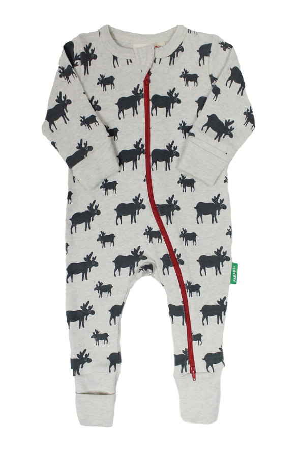 Signature Print '2-Way' Zip Romper - Long Sleeve - Parade Organics