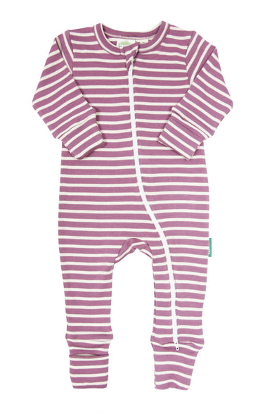 Signature Stripes '2-Way' Zip Romper - Long Sleeve - Parade Organics