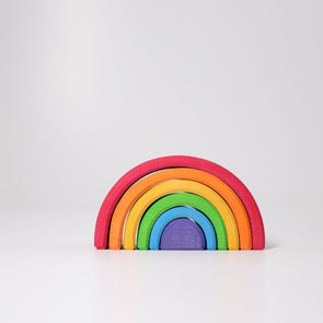 Grimm's Rainbow Wooden Stacker, Small - Parade Organics