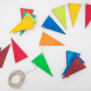 Grimm's Pennant Banner - Rainbow Classic - Organic Baby Clothes, Kids Clothes, & Gifts | Parade Organics