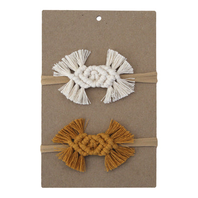 Macrame Baby Bow - Cypress 2 Pack