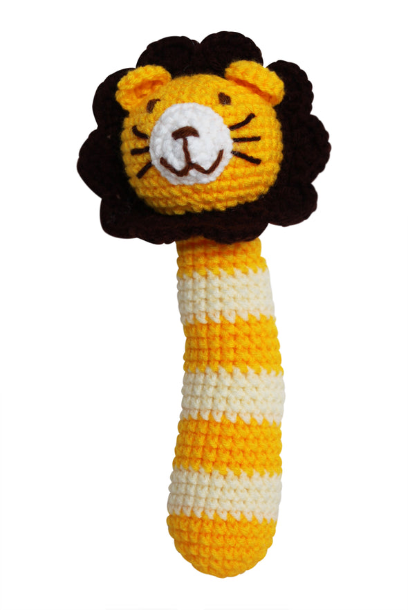 """My Animal Friends"" Knit Rattle - Organic Baby Clothes, Kids Clothes, & Gifts 