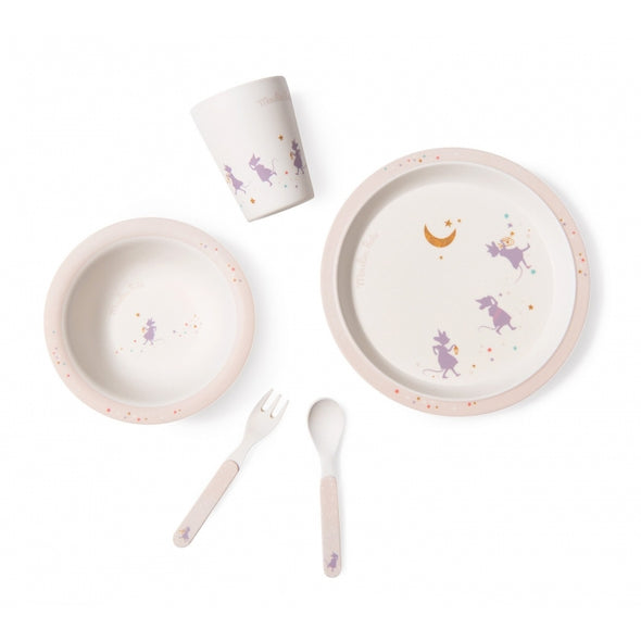 Moulin Roty 'Il etait une fois' Purple Dish Set - Organic Baby Clothes, Kids Clothes, & Gifts | Parade Organics