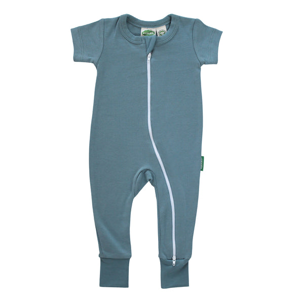 Essential Basics '2-Way' Zip Romper - Short Sleeve - Organic Baby Clothes, Kids Clothes, & Gifts | Parade Organics