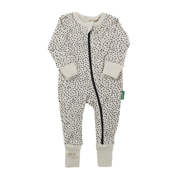 Signature Print '2-Way' Zip Romper - Long Sleeve - Organic Baby Clothes, Kids Clothes, & Gifts | Parade Organics