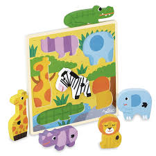 Vilac- Wooden Tray Animal Puzzle - Parade Organics