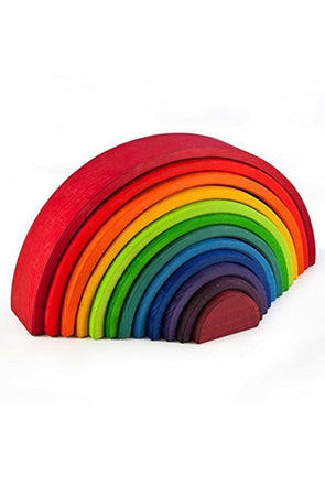 Grimm's Rainbow Wooden Stacker, Large - Parade Organics