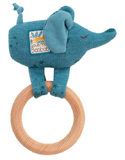 Moulin Roty Wooden Ring Rattle - Organic Baby Clothes, Kids Clothes, & Gifts | Parade Organics