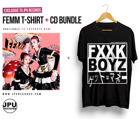 "FEMM ""Fxxk Boyz Get Money"" t-shirt."