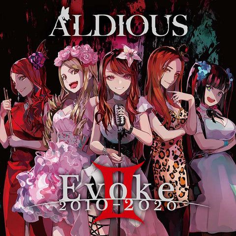 Aldious Evoke II 2010-2020 CD and download cover art drawn in anime style