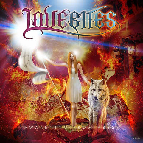 LOVEBITES AWAKENING FROM ABYSS CD album. Japanese Female Heavy Metal Band JPU Records