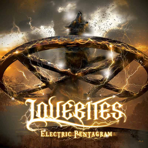 LOVEBITES ELECTRIC PENTAGRAM CD cover. Female Japanese heavy metal band. JPU Records