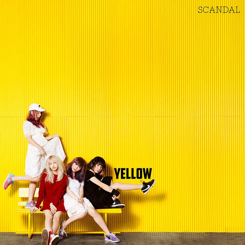 Scandal Yellow CD album. Japanese girl band // JPU Records