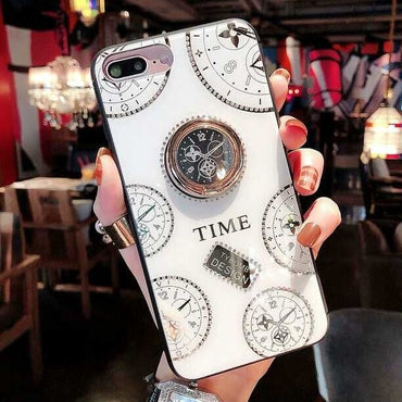 Special Vintage Time Clock iPhone case with Ring Holder