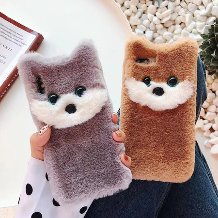 Cute & Warm Furry Fluffy Doggo iPhone Case