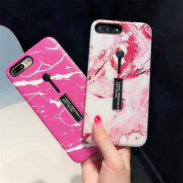 Fashionable Marble iPhone Cases with Ring