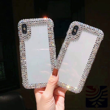 Fashionable Clear Transparent Rhinestone iPhone Case
