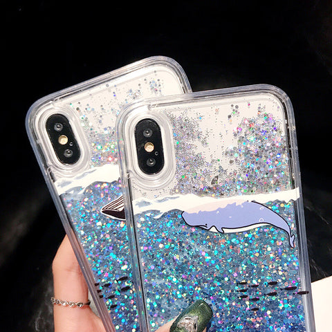 Winter Whale Quicksand iPhone Case
