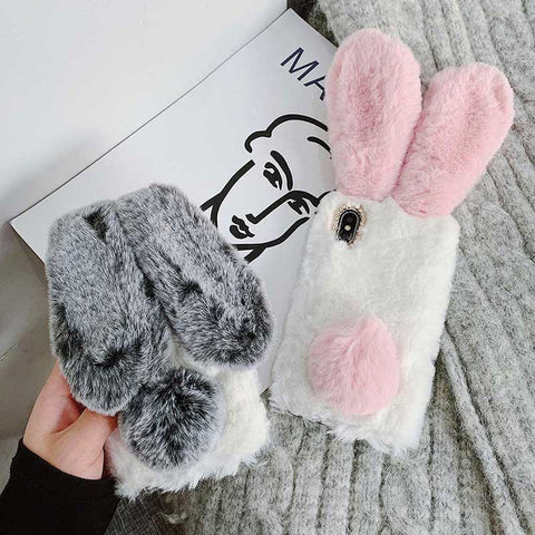 Cute Fluffy Rabbit Bunny iPhone Cases
