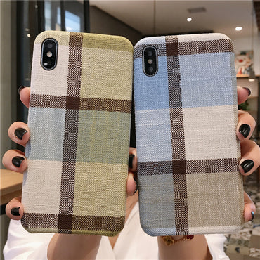 Warm England Style Fabric Plush Phone Case