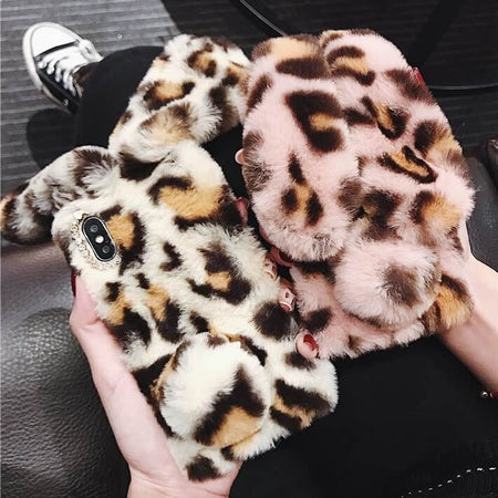 Colorful Animal Print Furry iPhone Cases