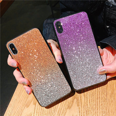 3D Bling Glitter Gradient Sequin iPhone Case
