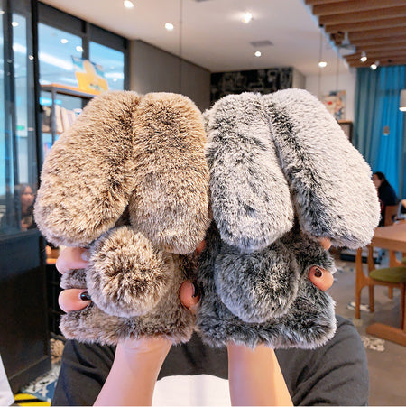 Warm & Cute Furry Fluffy Rabbit Ears iPhone Case
