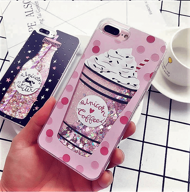 outlet store f6374 546bc Unicorn Coffee Water Bottle Quicksand iPhone Case