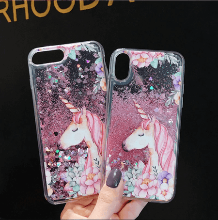Glitter Unicorn Quicksand  iPhone Case