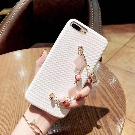 Cute Pink & White Bracelet iPhone Case