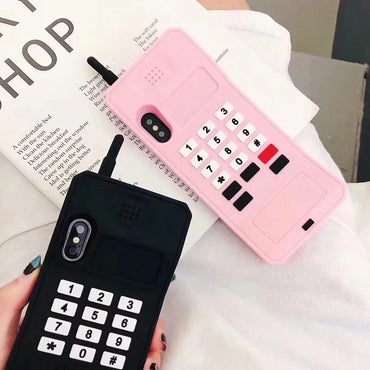 Cute Retro Soft Silicone iPhone Case