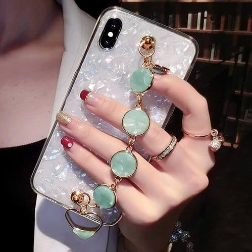 Luxury Shell Pattern Bracelet Shell Pattern iPhone Case