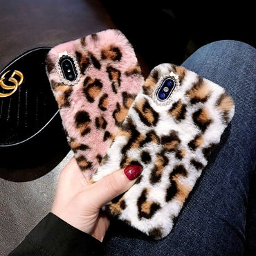 Fluffy Leopard Fur iPhone Cases