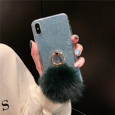 Chic iPhone Case with Ring and Ball