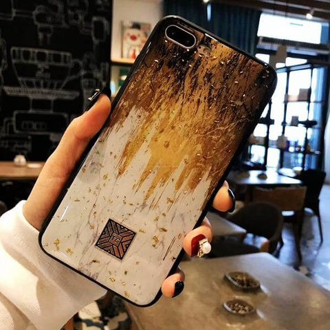 Luxury Gold Foil Abstract Glitter iPhone Case