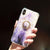 Purple Glossy Gold Foil Marble Abstract iPhone Case with Ring Holder - Maxi Case