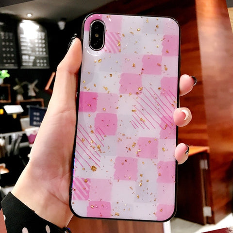Pink Grid Cute Colored Scale iPhone case