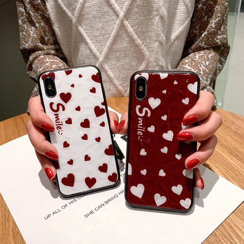 Cute Diamond Cut with Little Heart iPhone Case