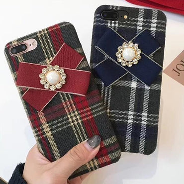 Vintage England Style Soft Lattice iPhone Case
