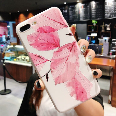 Lovely Flower Leaves iPhone Case