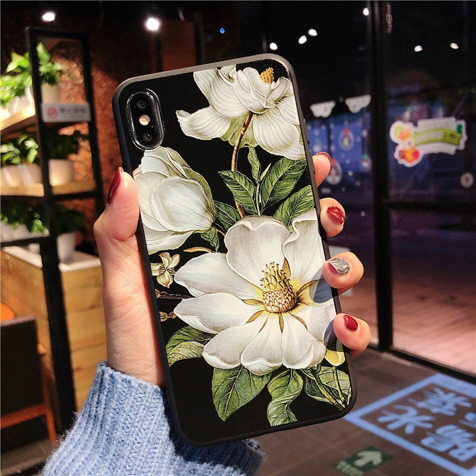 Embossed Flowers iPhone Case