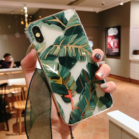 Fashionable Tropical Leaves iPhone Case